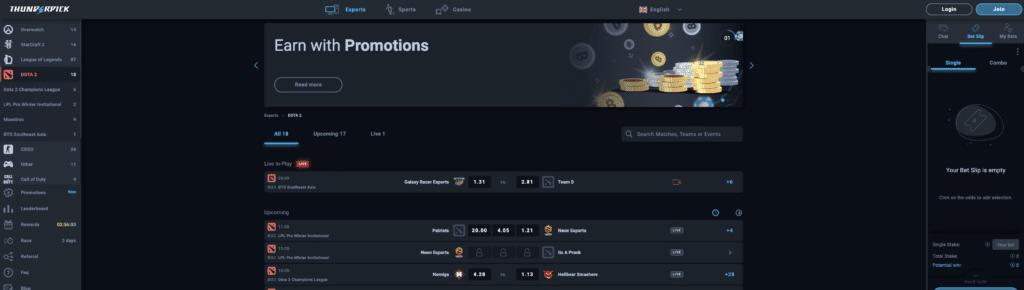Best Dota 2 gambling sites list